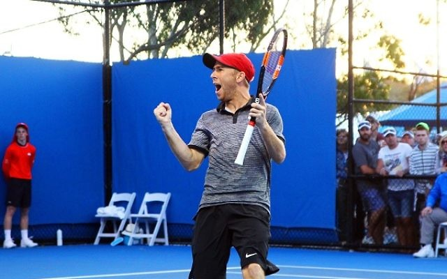Dudi Sela's through to the quarter-finals of the Hall of Fame Tennis Championships in Newport, US.
