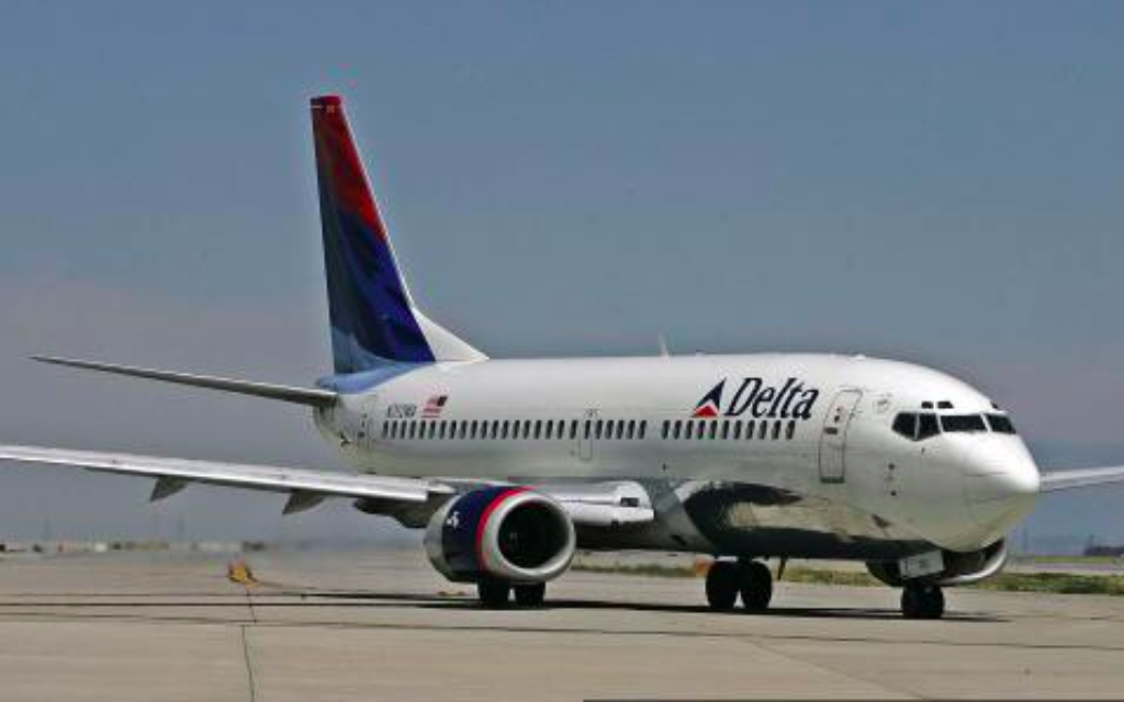 Delta Flight 468, bound for Tel Aviv's Ben Gurion Airport, was reportedly held up for half an hour.