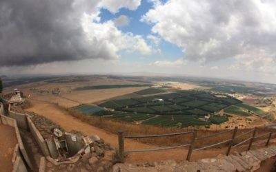 The view over Syria from the Golan Heights
