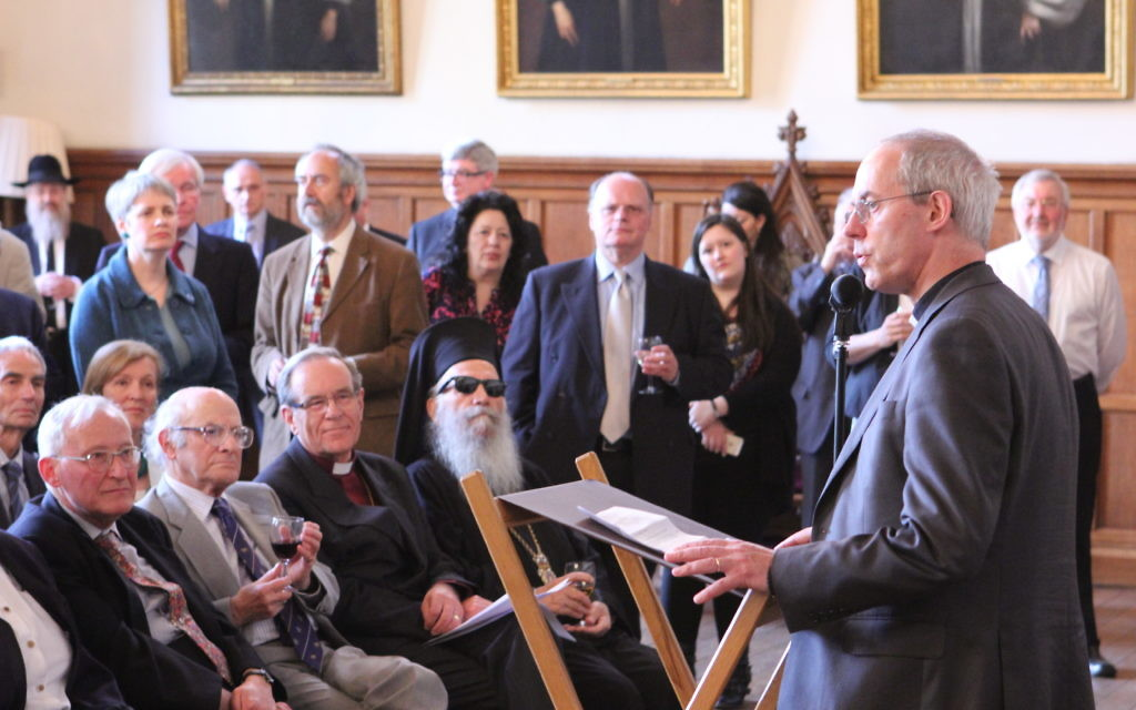 A previous CCJ event, with Archbishop of Canterbury Justin Welby.