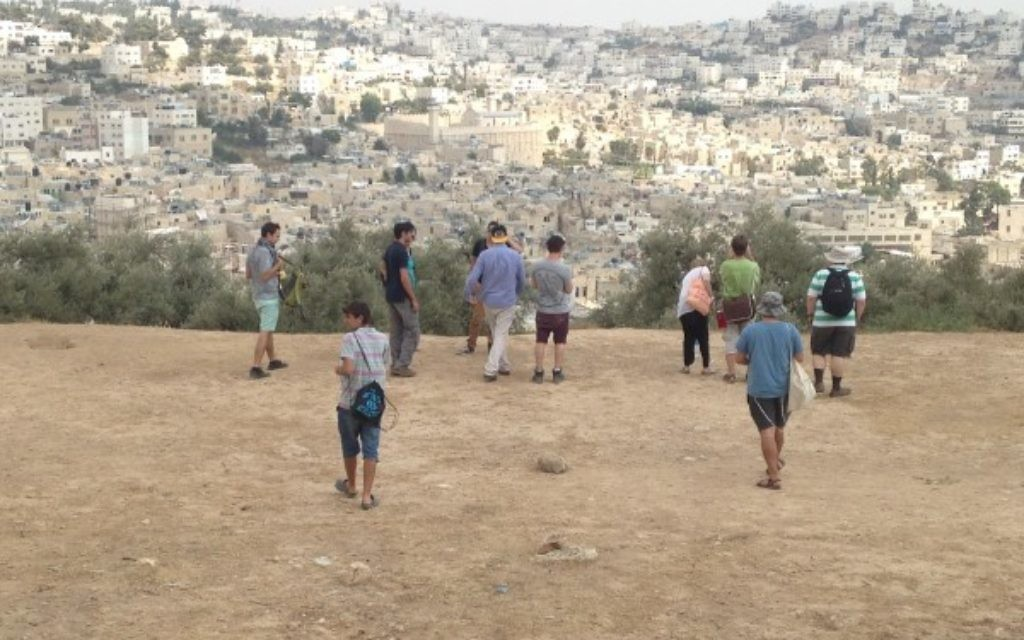 Yachad campaign group in the West Bank on the Yachad students and movement workers trip in September 2014 (Source: Yachad - Court in Conflict.)