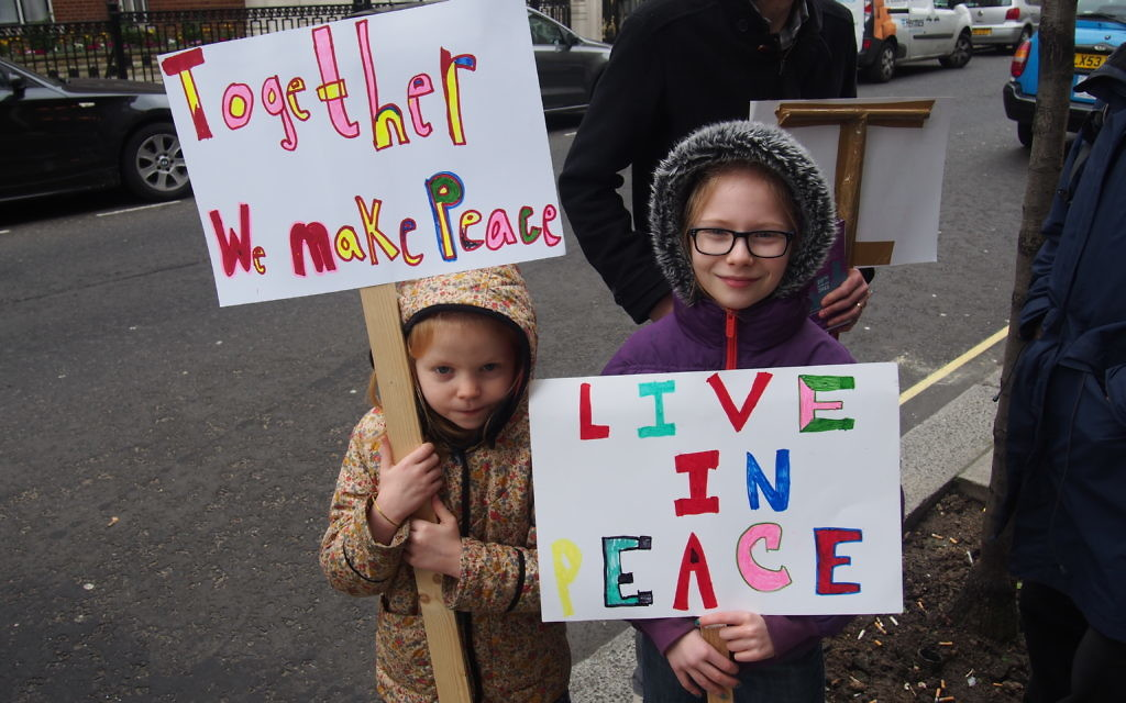 Young Circle of Peace participants in Bergstien. Pic: Richard Verber/WJR