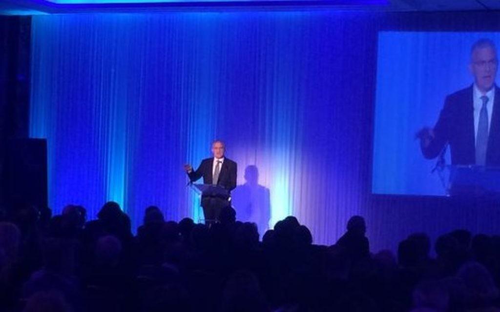 Ambassador Daniel Taub addressing the conference