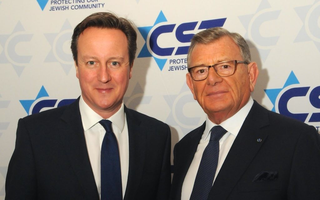 Prime Minister with  Gerald Ronson CBE (CST Chair)