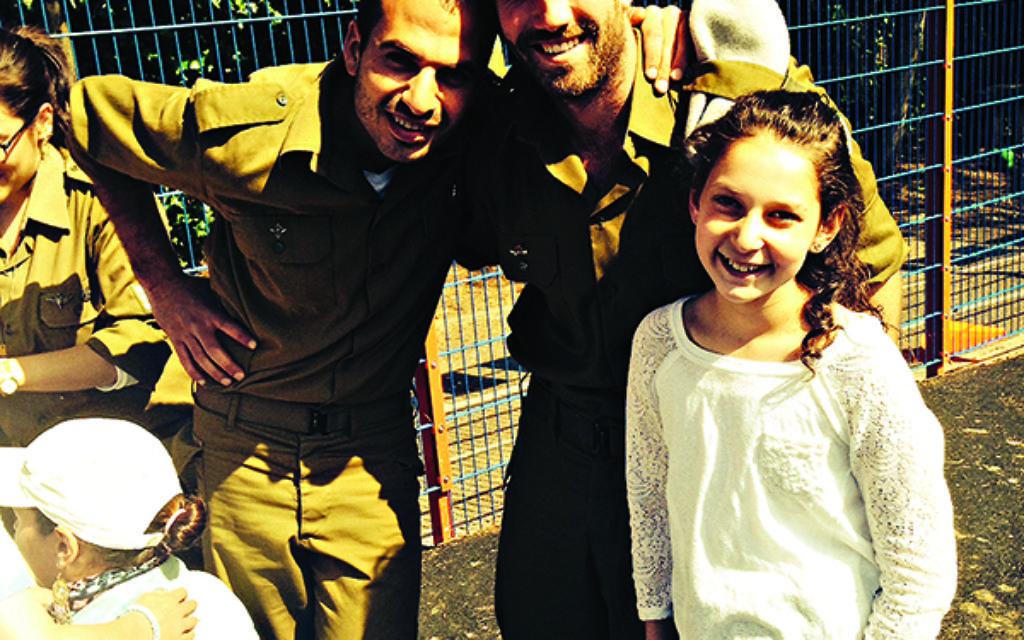 Elichai Ben Yishai, Ofer Shahar and IJDS pupil Rachel Nevies