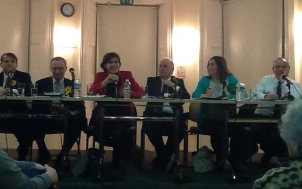 The hustings panel Source Finchley and Golders Green Labour on Twitter)