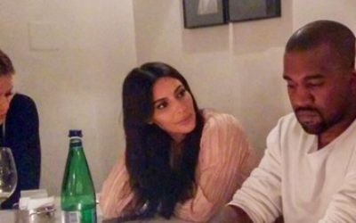 Kim and Kanye on a visit to Jerusalem in 2015