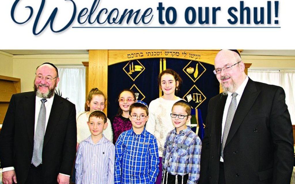 Chief Rabbi Ephraim Mirvis on a visit to Luton United Synagogue