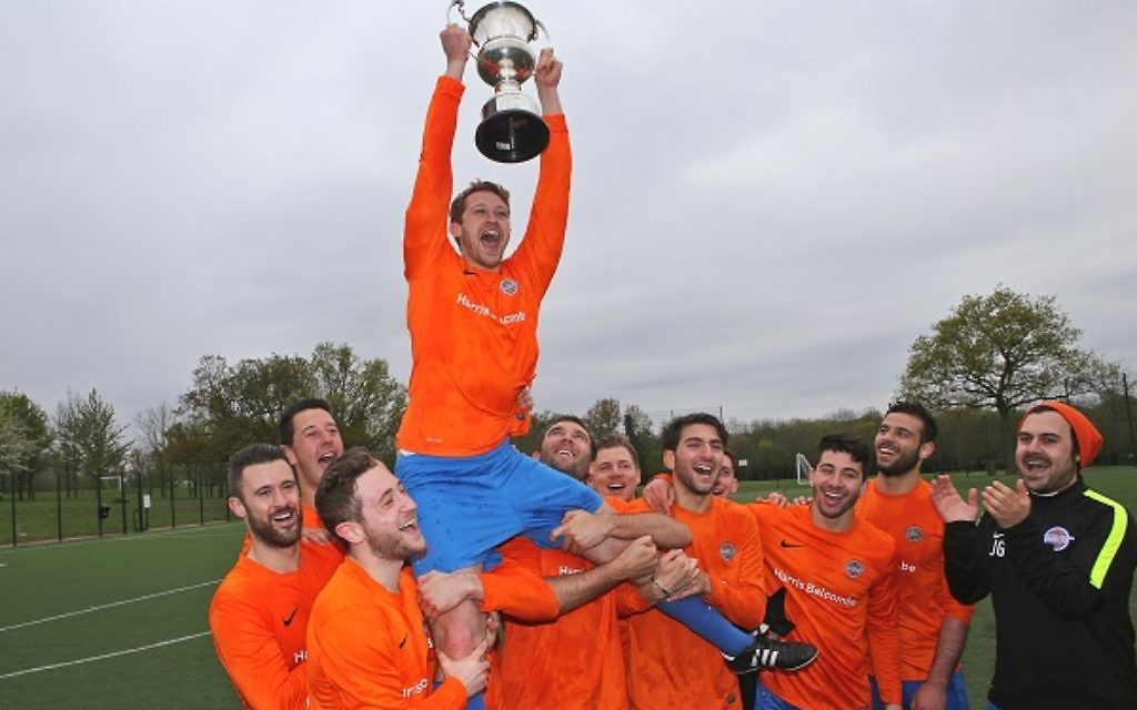 North London Raiders A celebrate lifting last season's Premier Division title