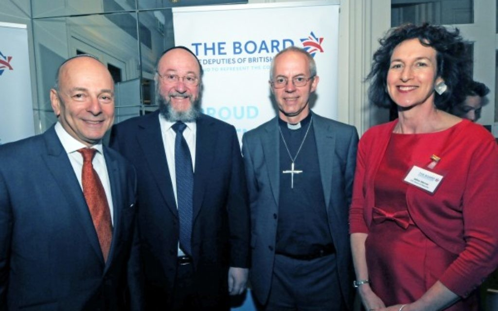Vivian Wineman, The Chief Rabbi, Archbishop Justin Welby and Gillian Merron
