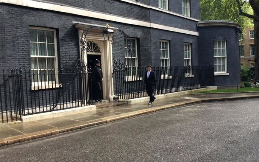 Lord Feldman entering Downing Street today (Source: Twitter)
