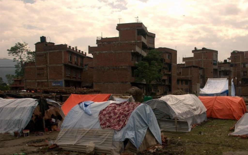Tents in the capital, offering refuge (Photo credit Josh Simons/World Jewish Relief)