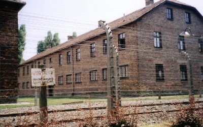 An Auschwitz barrack