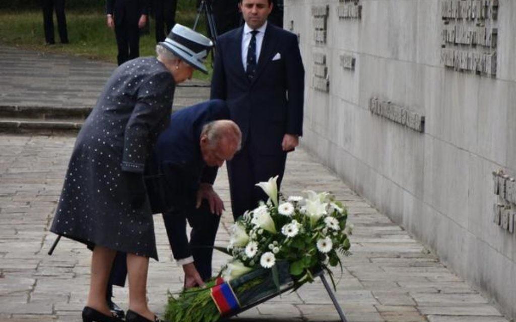 The queen visiting Birkenau