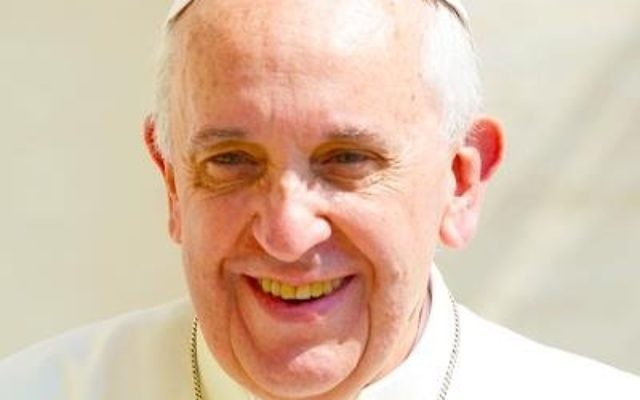Pope Francis denounced the current rise of antisemitism