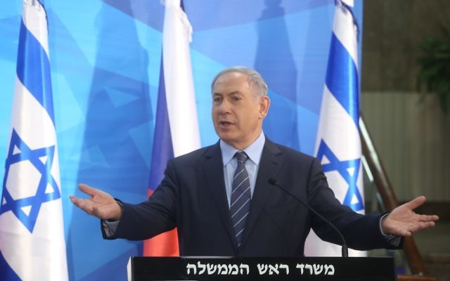 "photo: Marc Israel Sellem/The Jerusalem Post/Israel Sun 08-06-2015  Prime Minister Benjamin Netanyahu called on the world to hold the Palestinians accountable for their continuing tactic of fleeing peace talks which Israel has always shown itself ready to engage in. Speaking ahead of a meeting with visiting Czech Foreign Minister Lubomir Zaora'lek, Netanyahu voiced his commitment to a two-state solution, but said that the Palestinians refused to engage in direct talks. He listed the long line of Israeli prime ministers who have attempted to reach an agreement with the Palestinians to no avail.""They ran away from Barak; they ran away from Sharon; they ran away from Olmert; they ran away from me. "" Netanyahu called the Palestinian tactic ""a perfect trap.""  ""What they do is they refuse to negotiate, refuse to deal with the framework of John Kerry, in the White House, run to Hamas, which calls for our destruction, go to the UN and try to get sanctions on Israel,"" Netanyahu said. ""They refuse to negotiate and then try to get boycotts on Israel for there not being negotiations which they refuse to enter. Catch 22,"" he charged. ""I think this cycle has to be stopped. I think we have to get back to direct negotiations without preconditions. I think it's important that the international community stop giving the Palestinians a free pass,"" he said.  ðúðéäå òí ùø äçåõ ùì ö'ëéä"