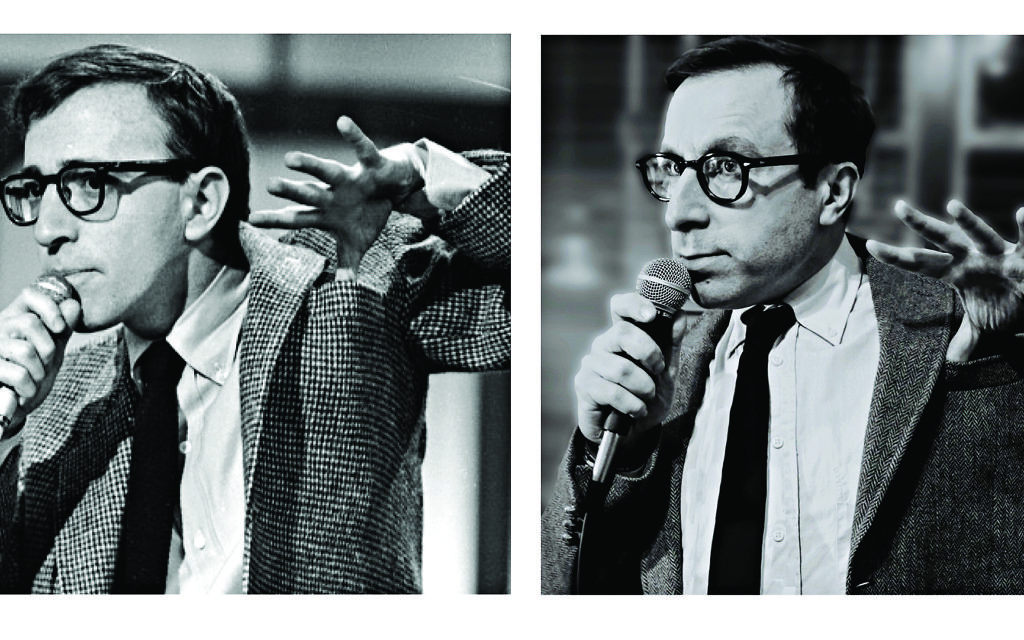 Spot the difference: Simon Schatzberger in character as Woody Allen