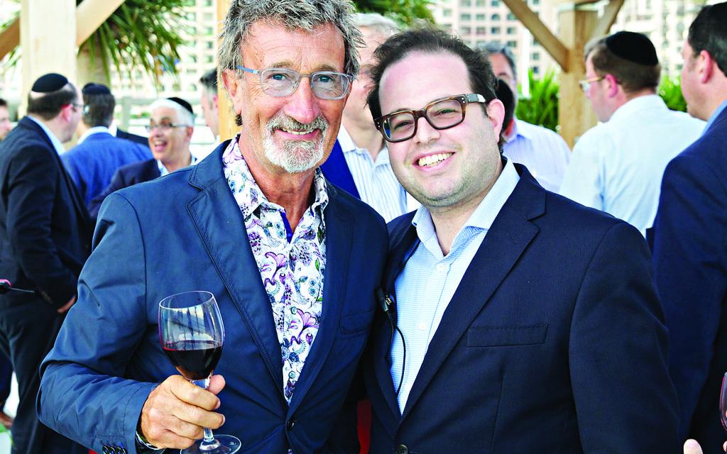 Mark Curtis, right, with Formula 1's Eddie Jordon