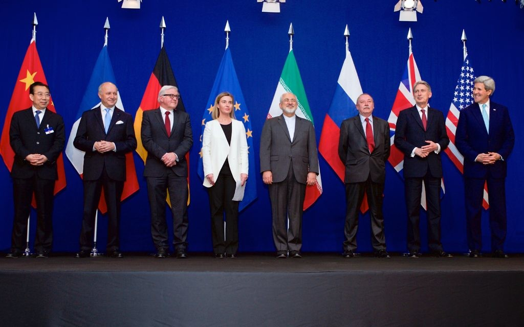 Negotiations about Iranian Nuclear Program - the Ministers of Foreign Affairs and Other Officials of the P5+1 and Ministers of Foreign Affairs of Iran and EU in Lausanne (April 2015)