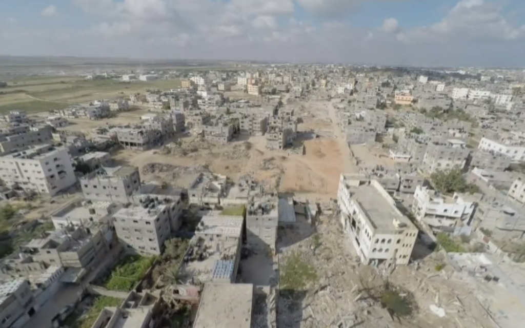 Palestinian drone footage reveals the extent of destruction in the Gaza Strip