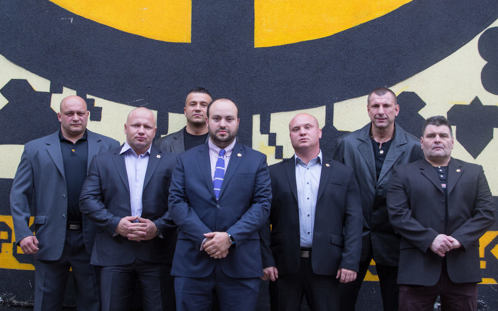 The Polish Strongman Association receives an award for their work with From The Depths at The Galicia Museum on June 28, 2015 in Krakow, Poland. (Photo by Elan Kawesch)