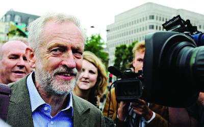 Jeremy Corbyn . Photo credit: Lauren Hurley/PA Wire
