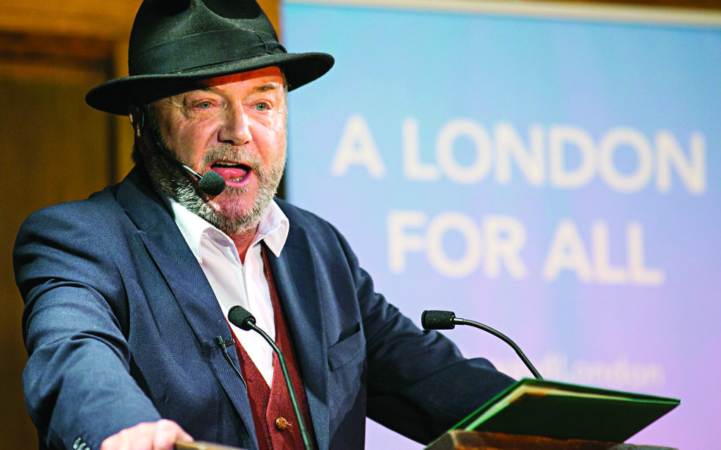Political veteran George Galloway officially launches his campaign to become the next Mayor of London at a rally at Conway Hall, London.