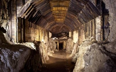 Part of a subterranean system built by Nazi Germany. According to Polish lore, a Nazi train loaded with gold, and weapons vanished into a mountain at the end of World War II. Two men claim they know the location     (AP Photo,str)