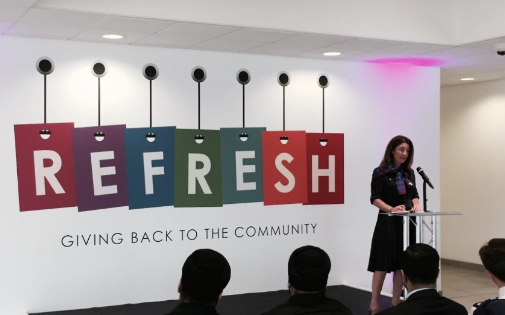 Baroness Williams speaking whilst opening The Refresh Skills Centre in Slough