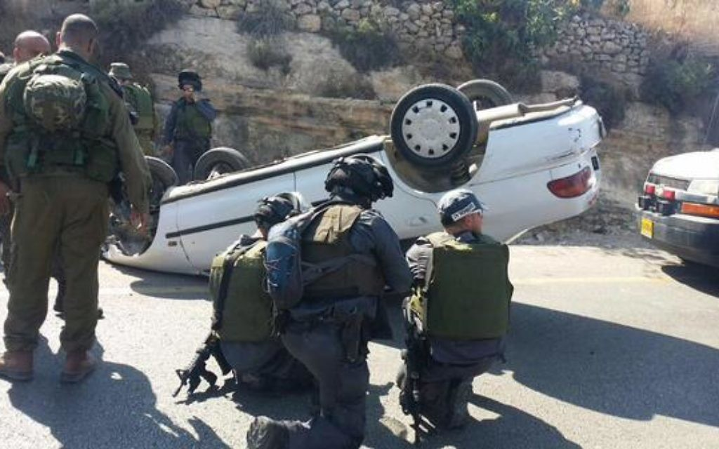 The aftermath of the incident (Source: Israel News Flash on Twiter)