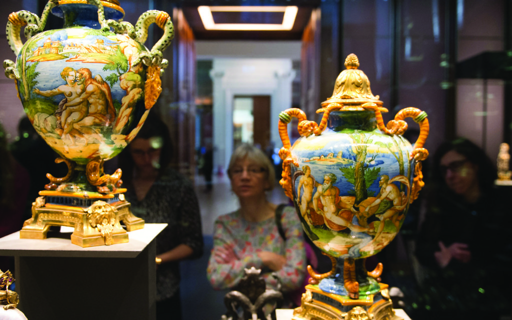 Items forming part of the newly opened permanent exhibition of the Waddesdon Bequest given by Baron Ferdinand de Rothschild in 1898, go on show at the British Museum in London.