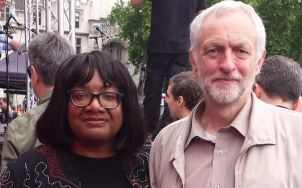 Labour MPs Diane Abott and Jeremy Corbyn