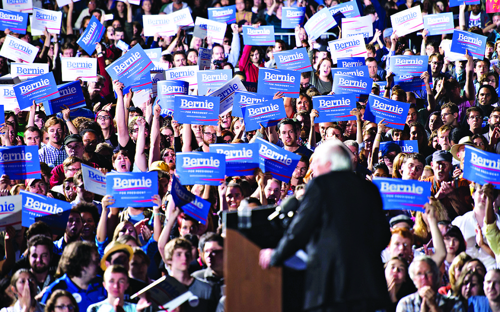 Democratic presidential candidate Bernie Sanders speaks to supporters during a campaign rally last week