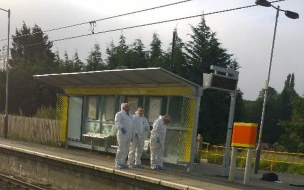 The forensic team at the scene of the crime. Source: Twitter - @glenmeskell