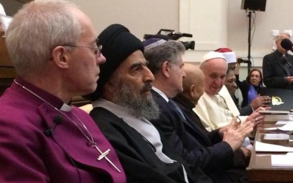 High profile faith leaders meet, including the Archbishop of Canterbury and the Pope