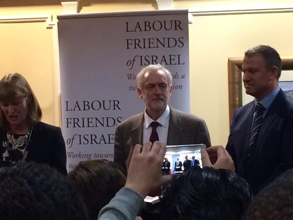Jeremy Corbyn at the Labour Friends of Israel event. (Source: Twitter)