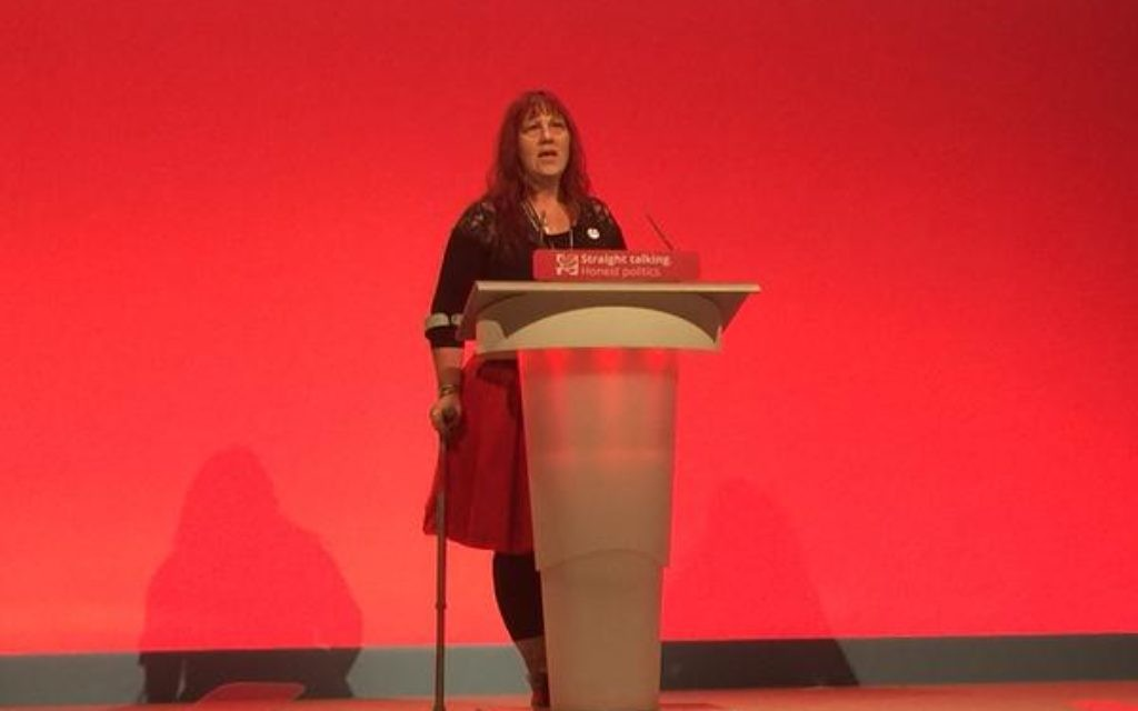 Sioux Blair-Jordan speaking during the Labour conference