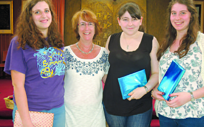 HaMakom headteacher Jacky Martin with three of their teaching assistants ahead of University.