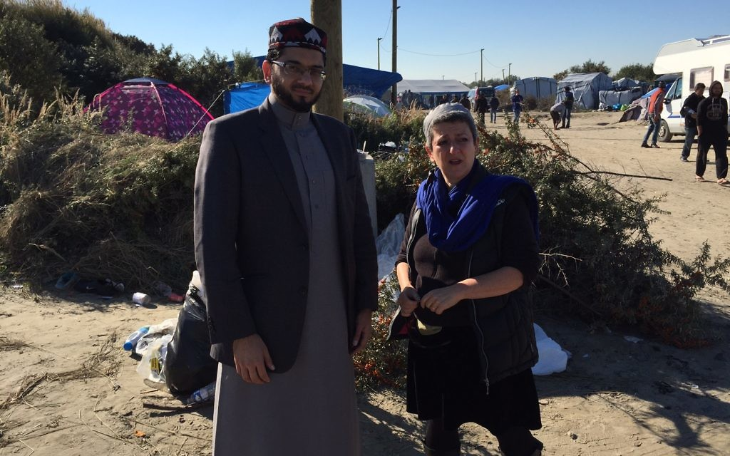 Left, Imam Qari Muhammad Asim from Leeds Makkah Mosque, with Rabbi Laura on the right