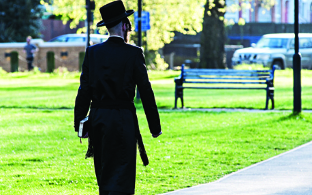 A member of the Hasidic Jewish Community of Stamford Hill