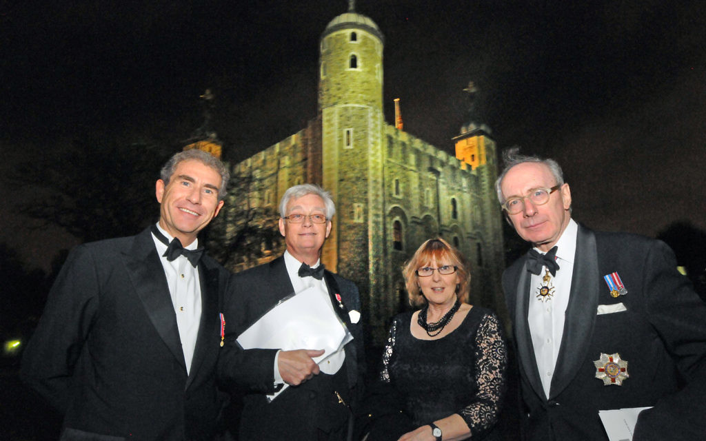 Maurice Ostro, Michael Hockney, Dr Jane Clements, Sir Malcolm Rifkind  ## CCJ Tower Dinner 13232