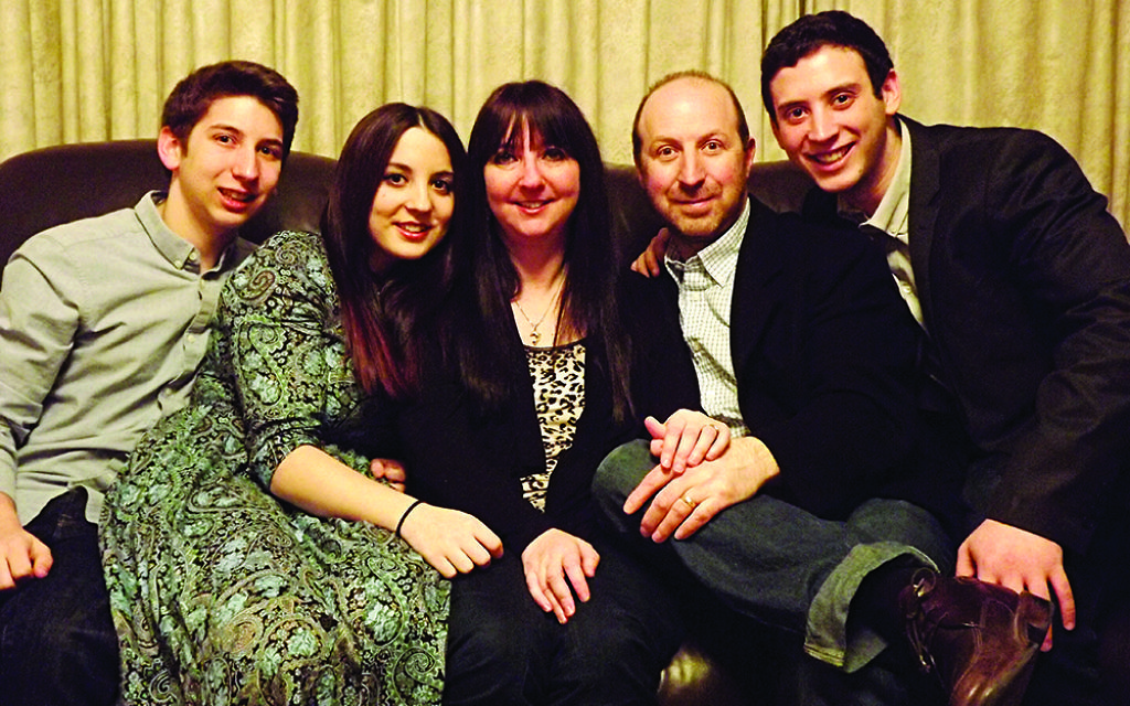 Rachelle with Jason, Hannah, husband Jonathan and Josh