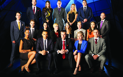 The contestants from the 11th series of The Apprentice