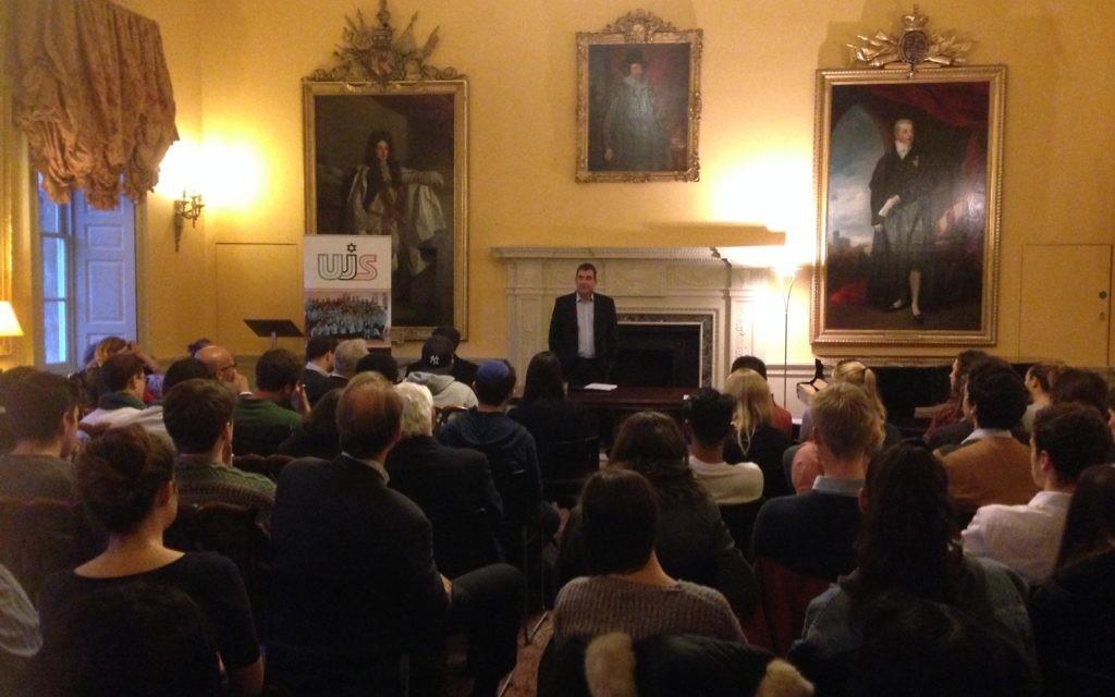 Ari Shavit speaking in Cambridge
