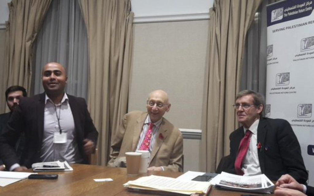 Kaufman (centre) at the event in question. (Source: @prclondon on Twitter)