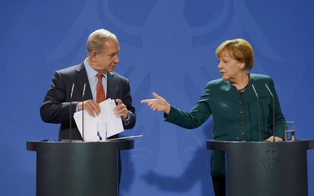 Israeli Prime Minister Benjamin Netanyahu with German Chancellor Angela Merkel   (Credit Amos Ben Gershom/GPO)