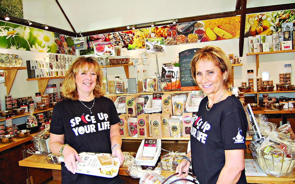 Louise Caplin and Karen Pomerance in their shop at Battlers Green Farm in Radlett
