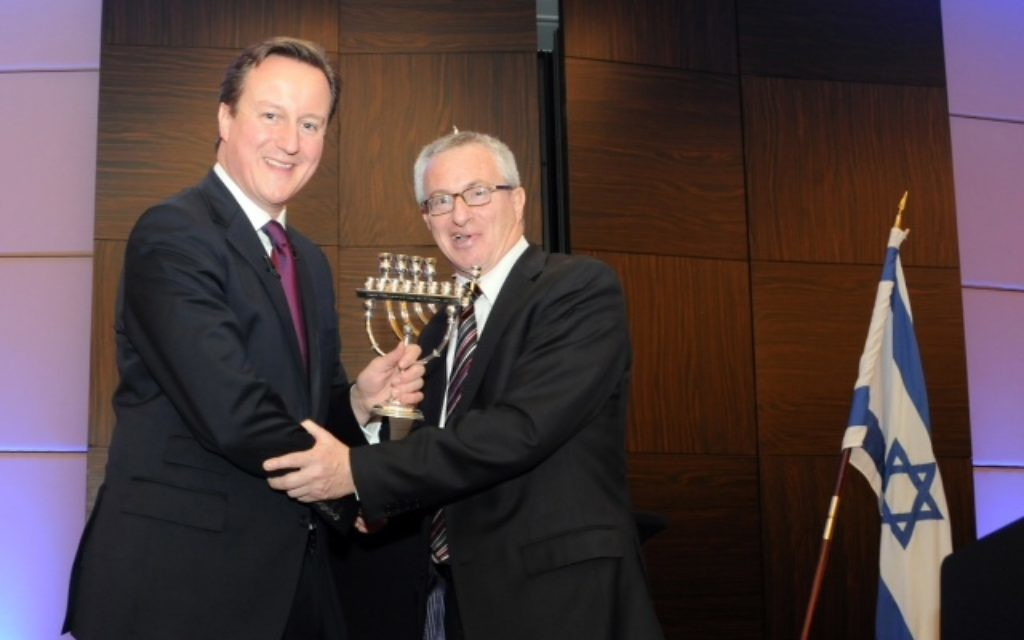 Stuart Polak with PM David Cameron