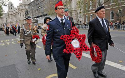 Marchers in Whitehall at the annual AJEX Parade (credit: John Rifkin)
