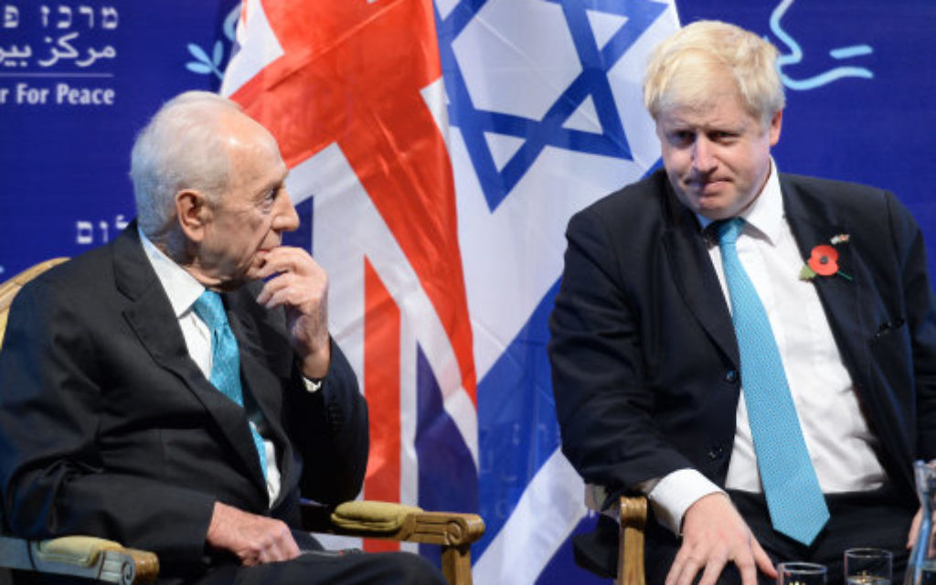 Mayor of London Boris Johnson (right) meets with former Israeli Prime Minister Shimon Peres at his offices in Tel Aviv, Israel, at the start of a four day trade visit to the region.